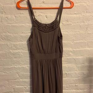 LOFT Thin Strap Brown Dress-NWT